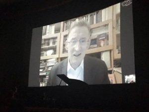 Jan Popis na ekranie Domu Kino w Kijowie